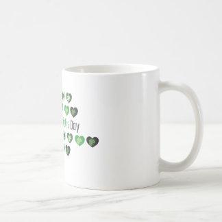 Caneca De Café Corações do dia de Patrick de santo mini