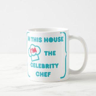 Caneca De Café Cozimento como um cozinheiro chefe da celebridade