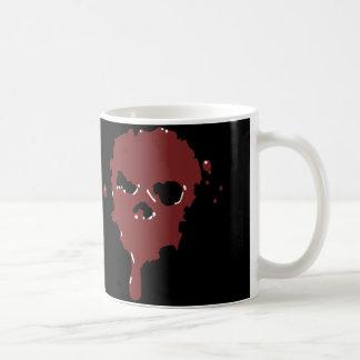 Caneca De Café crânio do sangue