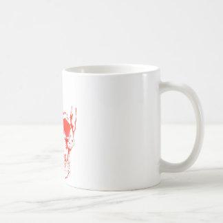 Caneca De Café Crânio no vermelho