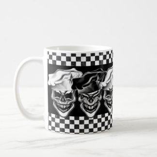Caneca De Café Crânios de riso do cozinheiro chefe
