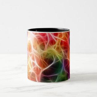 Caneca de café criativa da energia colorida