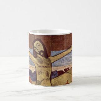 Caneca De Café Cristo amarelo por Paul Gauguin, belas artes do