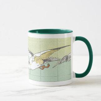 Caneca de café da arte do azulejo da gaivota do