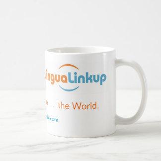 Caneca de café da associação do Lingua