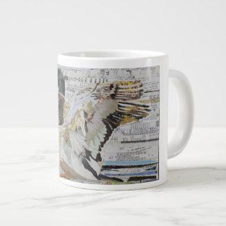 Caneca de café da colagem do pato do pato selvagem