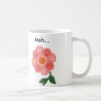 Caneca de café da flor de Meh