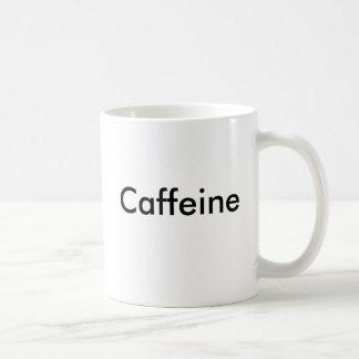 Caneca de café da molécula da cafeína
