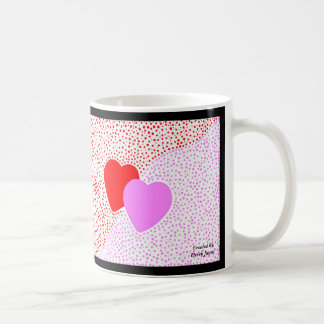 Caneca de café da surpresa do coração