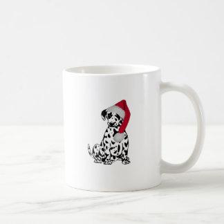 Caneca De Café Dalmatian do Natal