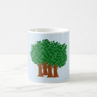 Caneca de café das árvores