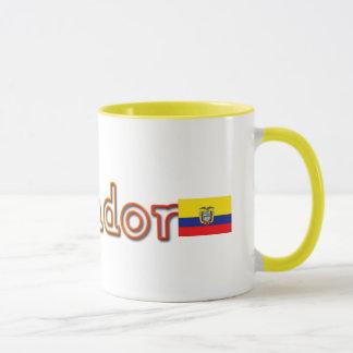 Caneca de café de Equador do por do sol com
