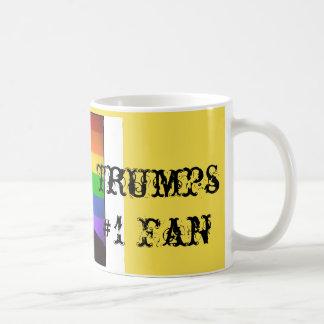 """Caneca De Café De """"fã dos trunfos #1 Donald """""""