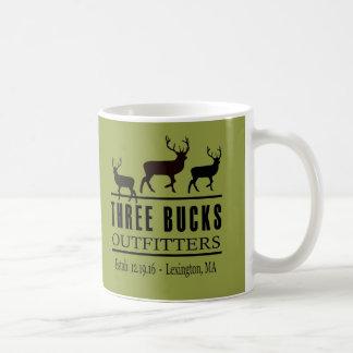 Caneca de café de três Outfitters dos fanfarrões