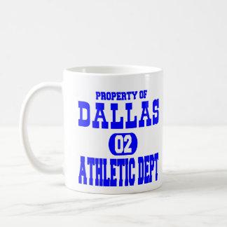 Caneca De Café Departamento atlético branco de Dallas
