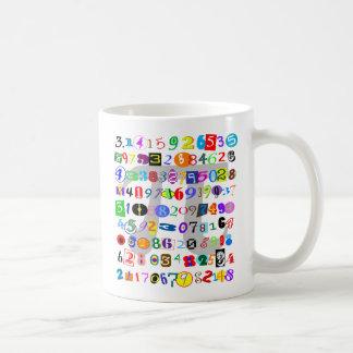 Caneca De Café Descrição colorida e do divertimento do Pi