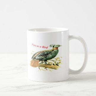 Caneca De Café Desenho do faisão livre como um pássaro