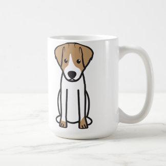 Caneca De Café Desenhos animados do cão de Jack Russell Terrier