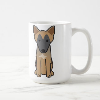 Caneca De Café Desenhos animados do cão de Malinois do belga