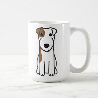 Caneca De Café Desenhos animados do cão de Russell Terrier do