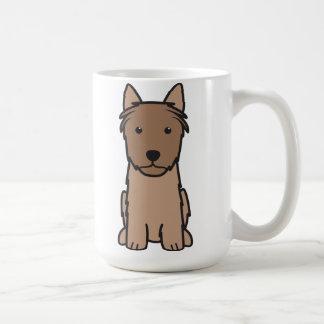 Caneca De Café Desenhos animados do cão de Terrier de seda