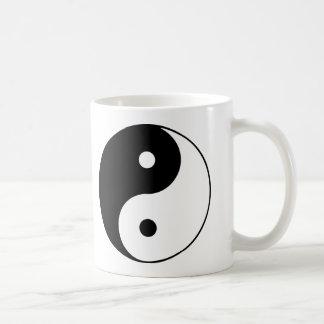Caneca De Café Design clássico branco preto do símbolo de Yin