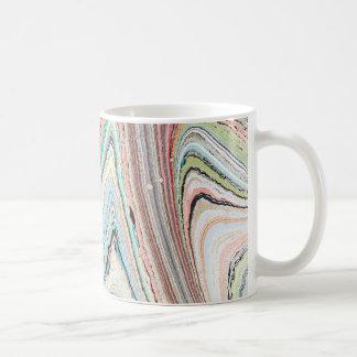 Caneca De Café Design Multi-Marmoreado, original por Karen Ruane