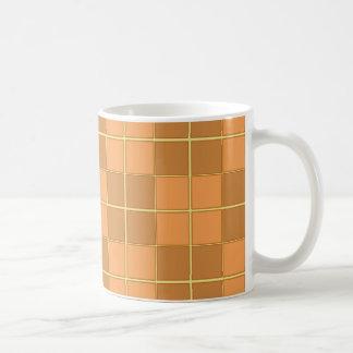 Caneca De Café Design natural do vetor dos azulejos dos beges nos
