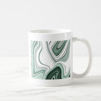 Caneca De Café Design verde corajoso do efeito da pedra da ágata