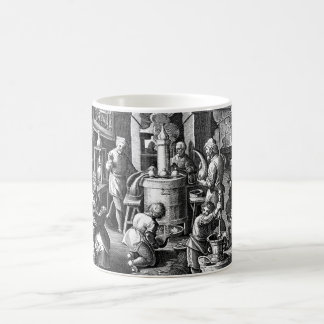 Caneca De Café Destilação em um laboratório da alquimia