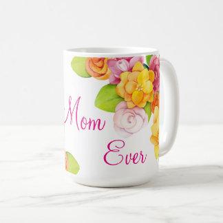 Caneca De Café Dia das mães - as flores brilhantes do