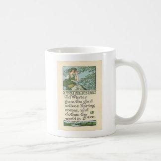 Caneca De Café Dia de São Patrício do trevo do primavera de