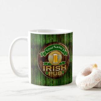 Caneca De Café Dia de São Patrício irlandês do sinal do bar do