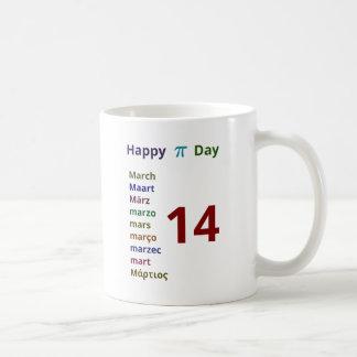 Caneca De Café Dia feliz do Pi!