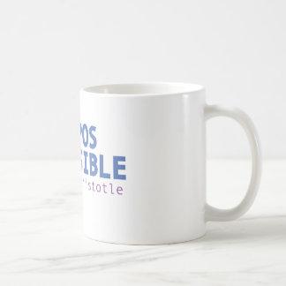 Caneca De Café Difícil é possível - Aristotle