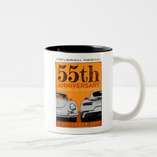 Caneca de café do aniversário de Mavs 55th