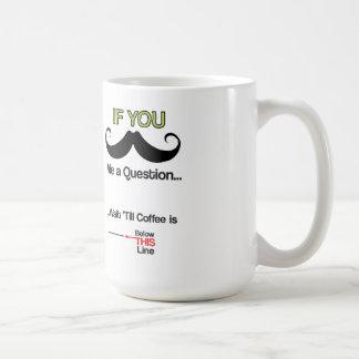 Caneca de café do bigode
