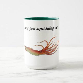 caneca de café do calamar
