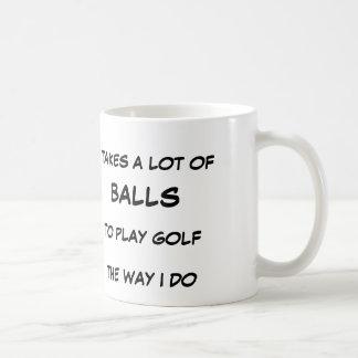 Caneca de café do jogador de golfe