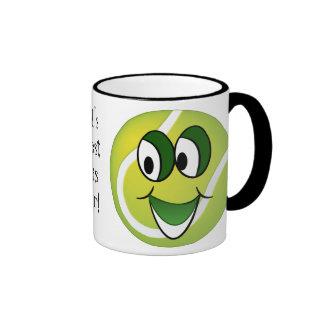 Caneca de café do jogador de ténis do mundo a