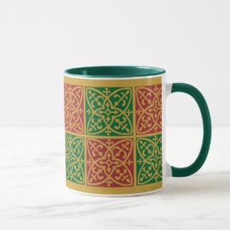 Caneca de café do Natal da arte do azulejo do