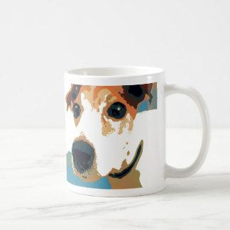 Caneca de café do pop art de Jack Russell Terrier
