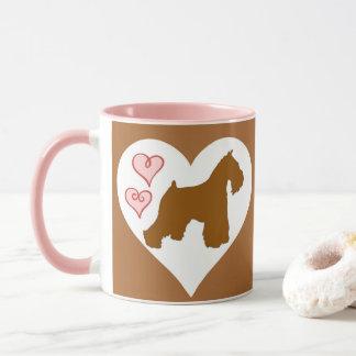 Caneca de café do Schnauzer do chocolate (fígado)