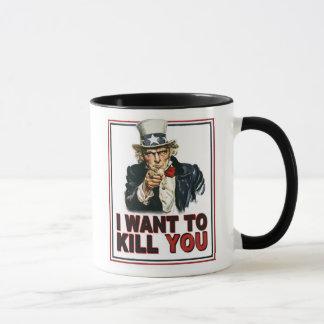 Caneca de café do tio Sam