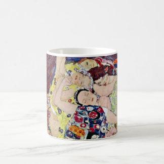 Caneca De Café Donzela (Virgin), Gustavo Klimt, arte Nouveau do