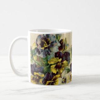 Caneca de café dos Pansies do Victorian