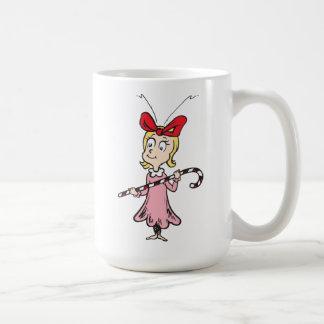 Caneca De Café Dr. Seuss | Cindy-Lou que - guardarando o bastão
