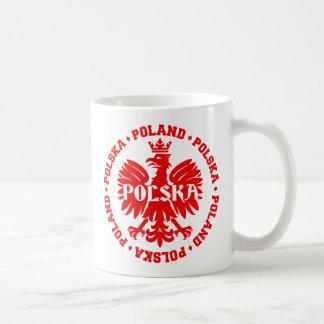 Caneca De Café Eagle polonês com texto de Polska do Polônia