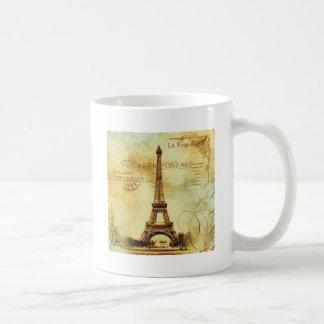 Caneca De Café Eiffel Tower vintage Paris
