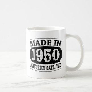 Caneca De Café Em 1950 - data de maturidade feita TDB